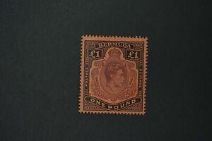 Bermuda #128b 1938 KGVI L1 perf 14 VF mint hinged fresh no toning cv$87.50 (k187