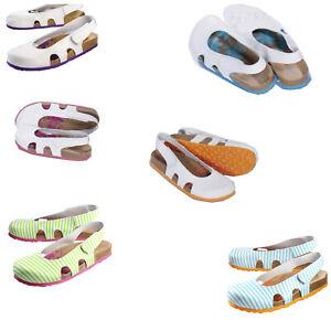 Damen Sandale India Clogs Praxis-Clog Pflege-Schuhe Pantoletten Hausschuhe bunt
