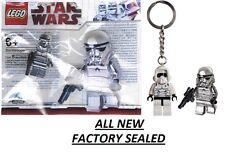 Lego Star Wars SILVER CHROME Stormtrooper minifig scout biker endor keychain NEW