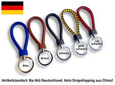 ★ Schlüsselanhänger geflochten Band Keychain Auto KFZ Motorrad Leder Carbon ★