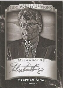 2017 Goodwin Champions - Stephen King AUTOGRAPH CARD - 1:27,072 packs -VERY RARE