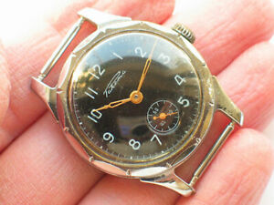 Vintage soviet RAKETA watch Petrodvorec factory Military BLACK Dial '1960s