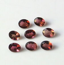 AAA+ 5X4 MM Oval Cut Natural Pink Color Tourmaline Faceted Gemstone 8 Pieces Lot