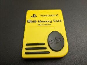 Nyko Jaune 8MB sony PLAYSTATION 2 PS2 Carte Mémoire Très Bonne État