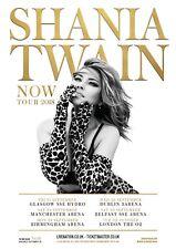 "Shania Twain ""Now Tour 2018"" Uk Concert Poster - Country Pop / Rock, Pop Music"