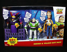 New TALKING Toy Story HEROES VILLAIN GIFT 3-PACK - Woody ZURG Buzz Lightyear