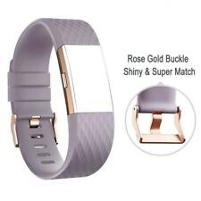 Rose Gold Buckle Band For Fitbit Charge 2 Replacement Accessories Silicone Wat