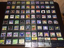 80 Nintendo Game Boy Color Lot Earthworm Jim Toy Story Pac-Man Pokemon WWF Gex