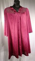 Vintage Vanity Fair Magenta Long Sleeve Lingerie 100% Nylon / Sz XXL / Pre-Owned