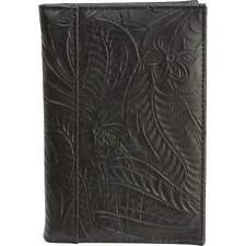 Black Genuine Leather Embossed US PASSPORT COVER Organizer New. FREE SHIPPING