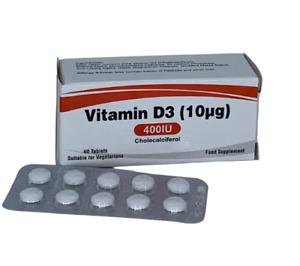 Vitamin D3 400iu 60 tablets Vegetarian