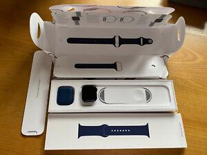 Apple Watch Series 6 GPS, 40mm Blue Aluminium Case Deep Navy Sport Band RRP £379