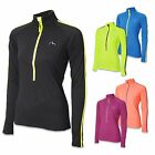 More Mile Ladies Half Zip High Vis Long Sleeve Running Top Womens cycle T Shirt