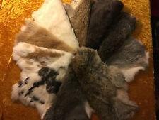 Kaninchenfell 5 Stück 40 - 45 cm NEU Hasenfell gegerbt weich flauschig Leder
