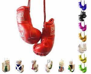 RingMaster Mini Boxing Gloves Car Hanger Van Rear Mirror Gift Flags
