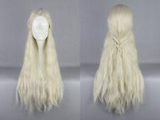 Hellblonde lange Perücken & Haarteile für Erwachsene Kunst Echthaar -
