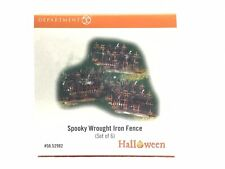 Department 56 Halloween Spooky Wrought Iron Fence Set of 6 #56.52982 Mib