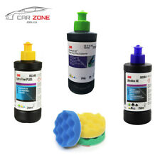 3M Fast Cut Plus + 3M Extra Fine + 3M Ultrafina + 3x 3M Mousse de lustrage 75 mm