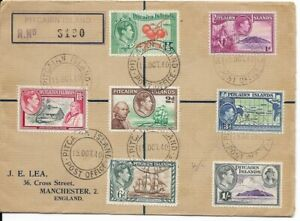 Pitcairn Island Cover with 7 Stamps, 1940