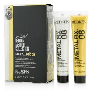 NEW Redken Fashion Collection Metal Fix 08 Metallic Liquid Pomade (For 2x20ml