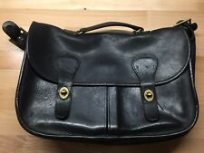 Coach Vintage Messenger Leather Bag Black