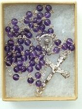 More details for amethyst & sterling silver rosary ~ 6mm beads