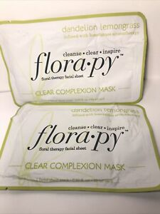 Florapy Floral Therapy Clear Complexion Mask 2PK 28ml EACH