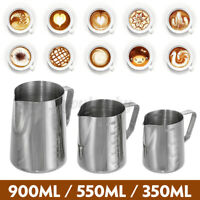900ml Stainless Steel Coffee Pitcher Mug Frothing Milk Latte Espresso Jug Cup
