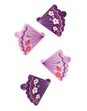 NWT Gymboree Cherry Blossom Fan Hair Clips Four-Pack Hair Accessories