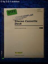 Sony Bedienungsanleitung TC TX333 Cassette Deck (#2171)