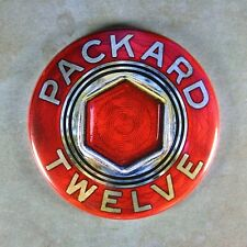 "Vintage Style Hubcap Center Badge Fridge Magnet 2 1/4"" 1936 Packard Twelve V-12"