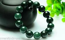 Elegant 100% Natural Grade A Jade /Jadeite 12mm Beaded Bracelet