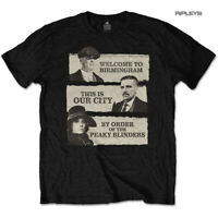 Official T Shirt PEAKY BLINDERS Shelby Brothers 'This Is Our City' Black All Siz
