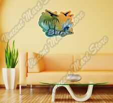 "Surf Surfing Windsurfing Tropical Wall Sticker Room Interior Decor 25""X20"""