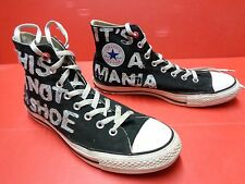 """Converse All Star toile noire taille 43 réf42 unisex """"this is not a shoe"""" etc..."""
