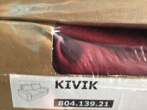 Ikea Kivik 2er Sofa Bezug,rot,neu,80413921