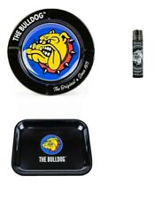 Bulldog Amsterdam Smoking Ashtray and Medium Rolling Tray Lighter FREE P&P