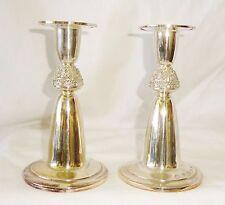 Pair 1973 Irish Dublin Sterling Silver Candlesticks by Irish Silver Ltd (808)