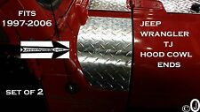 JEEP wrangler TJ DIAMOND PLATE 2 PC. HOOD COWL ENDS>> SET OF 2