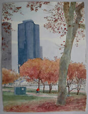 """Ride Along the Lakefront, Chicago""  Original Watercolor by William Benecke"