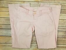 Womens Abercombie & Fitch Pink Flare Jeans Pants Size 2 R STRETCH **#A