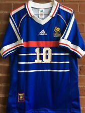 1998 France National Team World Cup Final Match Jersey, Zidane #10. Men's Medium