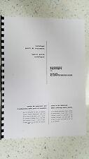 Ferrari 250GT (Gran Turismo) Catálogo de piezas Manual reimpreso Peine atado