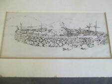 EDWARD BOREIN - Pen & Ink Drawing - STONE CORRAL  dl