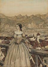 the beautiful Bertalda Undine/'s nemesis 1909 ARTHUR RACKHAM Vintage  Poster