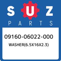 09160-06022-000 Suzuki Washer(6.5x16x2.3) 0916006022000, New Genuine OEM Part