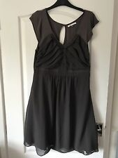 Asos Size 14 Maternity Dress Grey Beautiful Party Occasion Fully Lined