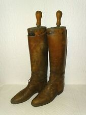 LEGG & SON BOTTES ANCIENNES CAVALERIE EQUITATION OLD RIDER LEATHER BOOTS ENGLAND