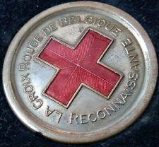 WW1 WW2 ERA BELGIUM RED CROSS SERVICE MEDAL IN CASE ISSUE FONSON