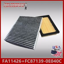 ENGINE /& CABIN AIR FILTER ~ 2016-17 TOYOTA PRIUS V FA6114 FC21471C CARBON